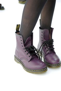 Purple Doc Martens - I had these back in the day, I want some again now (BTYC)                                                                                                                                                      More