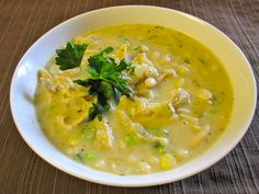 another white chicken chili recipe - was looking for one w/o milk. snow day soup making!