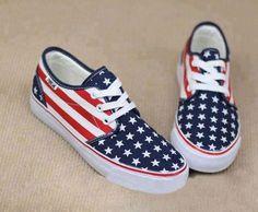 Chaussures. Drapeau d'Amérique.