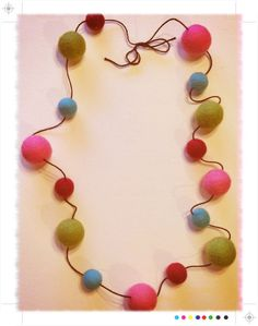 Felted wool bead necklace!