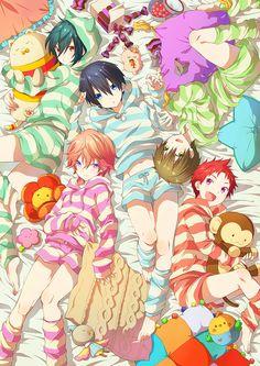 From memeo1105 ...  Free! - Iwatobi Swim Club, haruka nanase, haru nanase, haru, haruka, free!, iwatobi, nanase, asahi shiina, asahi, shiina, ikuya, ikuya kirishima, kirishima, makoto tachibana, makoto, tachibana, shigino, kisumi shigino, kisumi