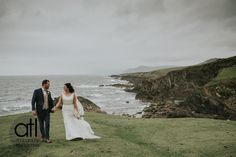 Aisling + Daniel out for a stroll on beautiful Achill before celebrating with family & friends Knockranny House Hotel & Spa, Westport  Wedding Photography & Videography by ATL Photography  www.atl-photography.com