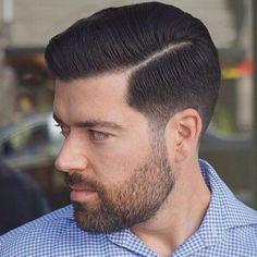 Pompadour Haircut Men's Hair in 2019 Hair cuts, Medium hair pompadour haircut how to style - Haircut Style Side Part Haircut, Side Part Hairstyles, Haircut Medium, Mens Modern Hairstyles, Classic Hairstyles, Elegant Hairstyles, Crazy Hairstyles, Men's Hairstyles, Hair Styles 2016