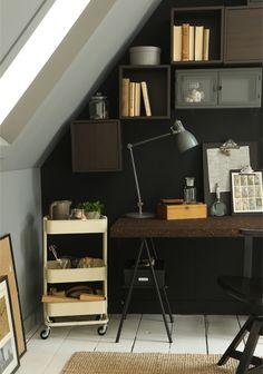 Ikea - kamer inrichten met een schuindak