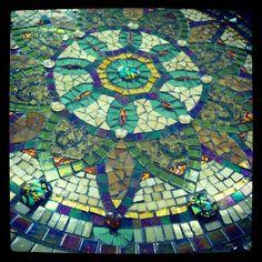 Instagram photo of mandala by Nancy Keating www.mosaicsgarden.com