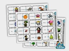 RECURSOS PRIMARIA | Dominó de palabras imprimible ~ La Eduteca Literacy Activities, Activities For Kids, Breakout Edu, Spanish Worksheets, Action Verbs, Teachers Corner, School Hacks, School Tips, Reggio Emilia