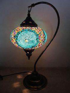 Handmade Turkish Mosaic Lamp  Great Decoration  $59