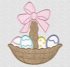 Easter Basket 3 Applique - 3 Sizes! | What's New | Machine Embroidery Designs | SWAKembroidery.com Applique for Kids