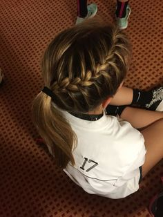 Perfect braid for a volleyball game(: More - Looking for Hair Extensions to refresh your hair look instantly? http://www.hairextensionsale.com/?source=autopin-thnew