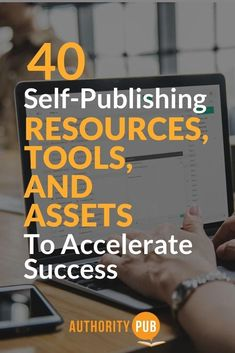 Know the 40 self-publishing resources and tools that will help you catapult your book business Book Publishing Companies, Self Publishing, Book Writing Tips, Writing Resources, Writer Tips, Writing Courses, Marketing, Creative Writing, 3d Printing