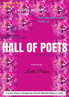 HALL OF POETS  HOP e-MAG. ISSUE 03; JULY, 2015.