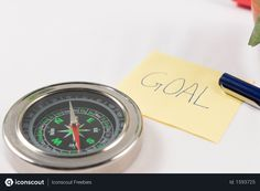 Free Compass with goal written sticky note Photo Adobe Xd, Business Photos, Sticky Notes, Compass, Photoshop, Goals, Writing, Free, Being A Writer