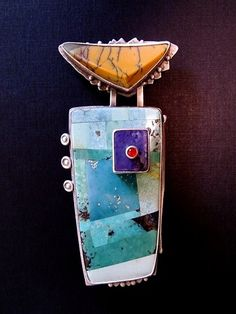 Inlay Turquoise Pin, Carlyn Galerie