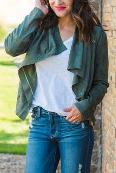 Suede Moto Jacket | SexyModest Boutique