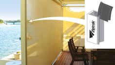 Ziptrak guided system locks your blind fabric into special tracks, with no gaps at either side to secure against flapping http://apolloblinds.com.au/product/ziptrak-awnings/
