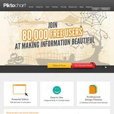 Piktochart- Make Information Beautiful. Create infographics. Engaging presentation app.