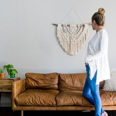 Mid Century Modern Furniture  Article Nirvana Couch One more macrame.