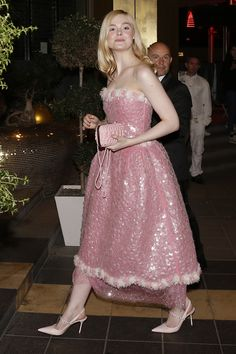 Elle Fanning joins Camila Morrone at Chanel bash in Cannes Fancy Dress, Pink Dress, Dress Up, Bash, Chanel Party, Dakota And Elle Fanning, Camila Morrone, Glamour, Celebrity Look