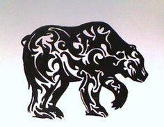 tribal bear silhouette   Tribal Bear Tattoo   tribal bear in tattoo design 2 comments more like ...