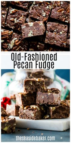 Old Fashioned Pecan Fudge is a winner of a recipe. Decadent, creamy fudge with marshmallows and pecans. it doesn't get much better than this! Baker Recipes, Pecan Recipes, Fudge Recipes, Chocolate Recipes, Delicious Recipes, Dessert Recipes, Candy Recipes, Chocolate Fudge, Yummy Food