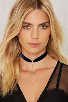 Blue Moon Velvet Choker - Velvet | Fall Bohemia | Best Sellers | Necklaces | Velvet | 30% Off New Styles | Accessories