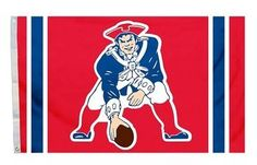 New England Patriots Red Throwback 3x5 NFL Flag