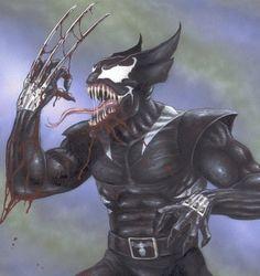 The symbiotic Venom taking over Wolverine!