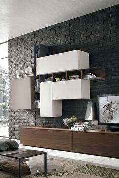 The Kronos T06 multimedia unit by Studio IQ is available with push-to-open drawers for a sleek, handleless design. Available from IQ Furniture.