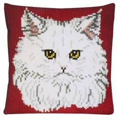 Подушка для вышивания Pako 003.100 Белая кошка