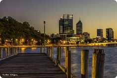 Perth City and Swan River Sunrise