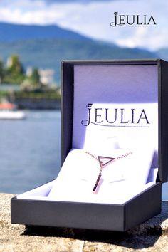 Jeulia Rose Gold Tone Hollow Triangle Pendant Necklace #JeuliaJewelry