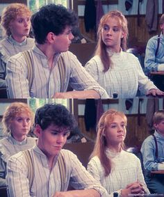 Gil and Anne in school. ~Anne of green gables