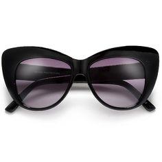 Sophisticated Retro Inspired Thick Bold Browline Cat Eye Silohuette Su – Sunglass Spot