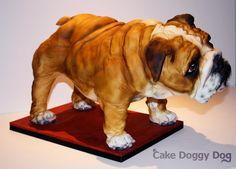 cake doggy dog - bull dog cake..coolest cake ever!!!! I want!!! #PenguinKids  #TangleofKnots