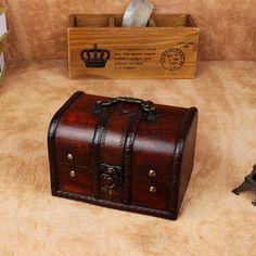 european retro box wooden box lockable storage box antique wooden jewelry box decorated props decoration