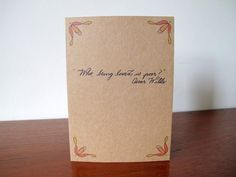 Who Being Loved Oscar Wilde Quote Greetings Card by SchoonerHouse