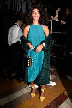 elizabethswardrobe:Solange Knowles at Lanvin at Paris Fashion Week.