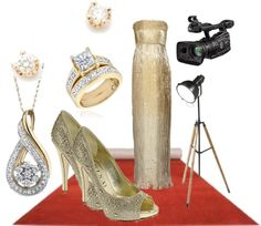"""Red carpet premiere"" by dayday1andonly ❤ liked on Polyvore"