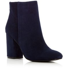 Kenneth Cole Women's Caylee Suede High Block Heel Booties (7.035 RUB) ❤ liked on Polyvore featuring shoes, boots, ankle booties, suede boots, kenneth cole booties, block heel boots, suede ankle booties and block heel booties