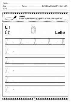 Letra Cursiva - L