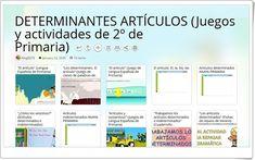 10 juegos y actividades sobre los DETERMINANTES ARTÍCULOS en 2º de Primaria Teaching Resources, Second Best, Note Cards, Learning, Activities