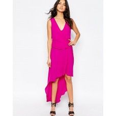 BCBGMaxAzria HiLo Maxi Dress with Drape Front