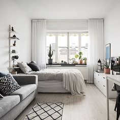 Large size of small studio apartment interior design ideas living home decor apartments and that boost Tiny Studio Apartments, Studio Apartment Layout, Apartment Interior Design, Studio Layout, Modern Apartments, Furniture For Small Apartments, Nordic Interior, Interior Livingroom, Interior Modern