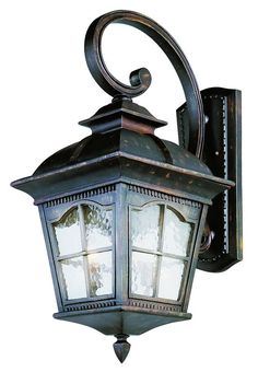 Trans Globe Lighting 5424 Chesapeake 4 Light Lantern Outdoor Wall Sconce  Antique Rust Outdoor Lighting Wall