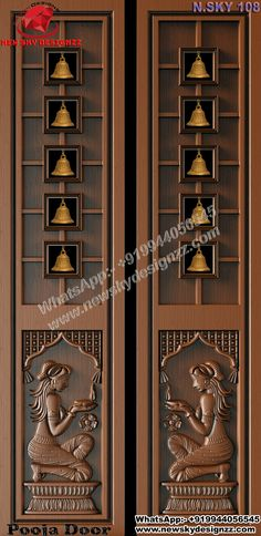 Grill Door Design, Door Gate Design, Lcd Wall Design, Indoor Railing, Temple Design For Home, Woodworking Ideas Table, Ceiling Materials, Wooden Main Door Design, Pooja Room Door Design