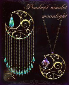 Pendant amulet moonlight Lyotta 2 by Lyotta.deviantart.com on @DeviantArt