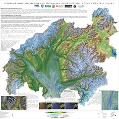 Hydrographic Mapping of the Matanuska-Susitna Basin in South Central Alaska by TNC #map #alaska #hydrology