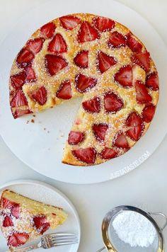 Strawberry Cream Cheese Coffee Cake | recipe via justataste.com