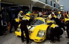 1984, 1000 km Nurburgring. Senna with Henri Pescarolo and Stefan Johansson. Porsche 956 Joest Racing,