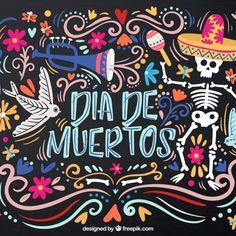 Colorful background for dead's day Free Vector Mexico Day Of The Dead, Day Of The Dead Art, Coaster, Sugar Skull Art, Sugar Skulls, Mexican Designs, Mexican Party, Fall Halloween, Colorful Backgrounds